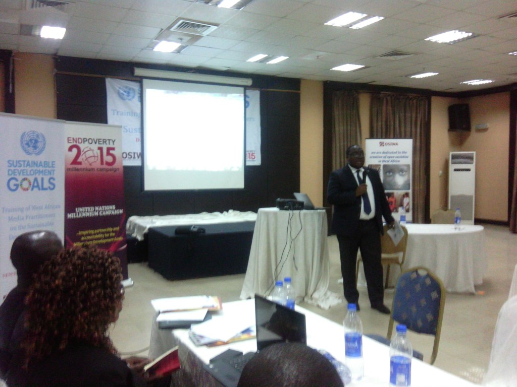 Hillary Ogbonna addressing media practitioners