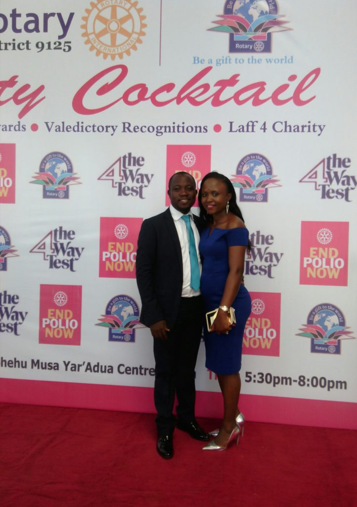 Dotun Roy and his Wife, Debo on Red Carpet