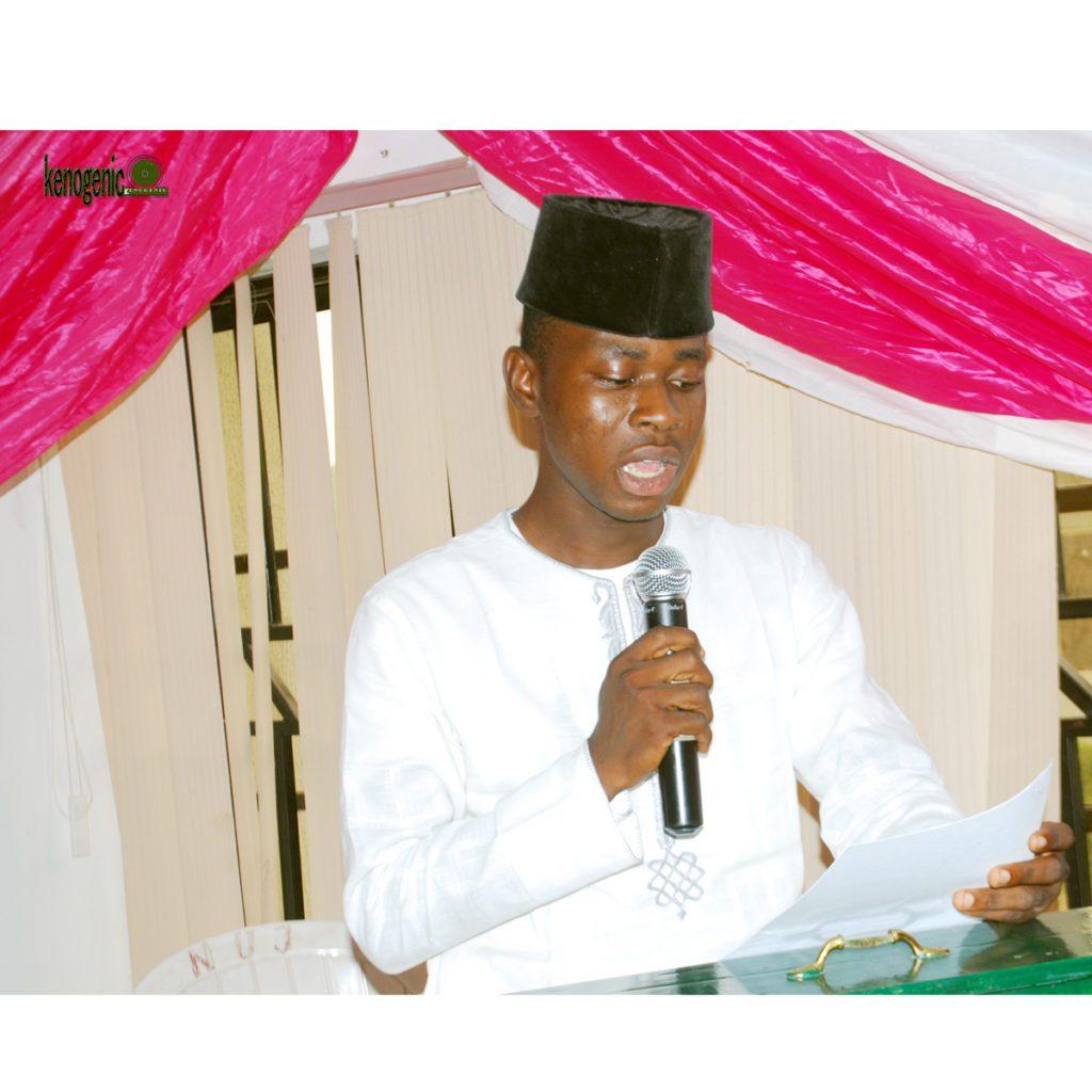 Olasupo Abideen during his remarks